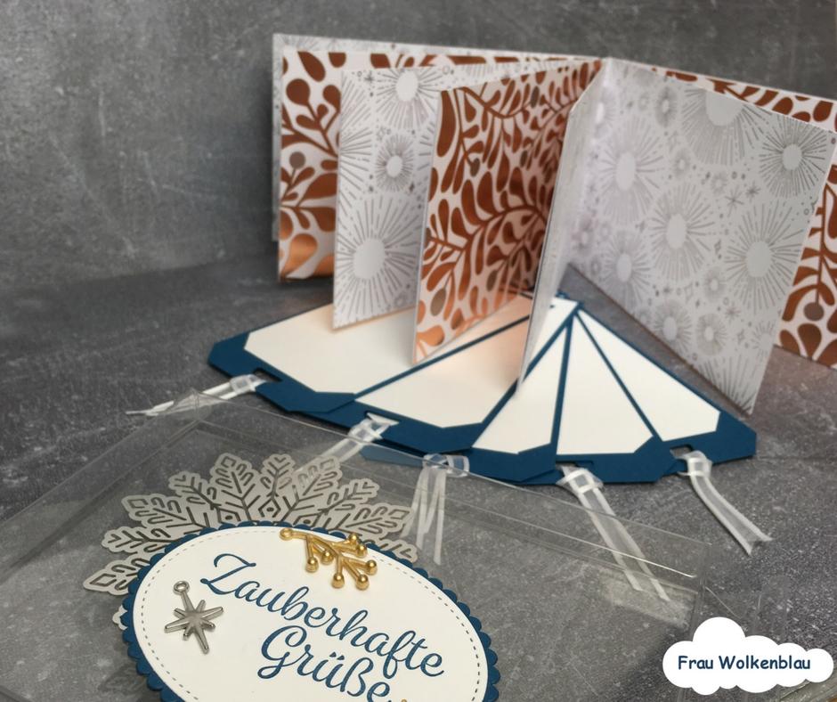 mini album selber basteln und zu weihnachten verschenken frau wolkenblau. Black Bedroom Furniture Sets. Home Design Ideas