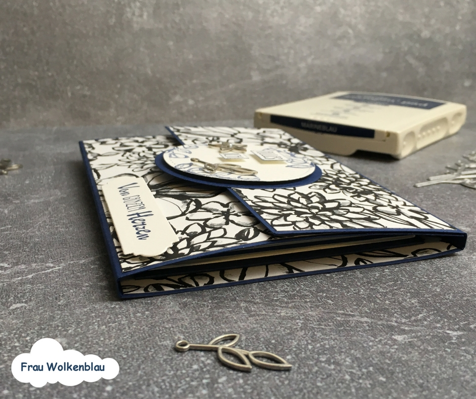 Geschenk-zum-Muttertag-Minialbum-Marineblau-Blütenfantasie-Details-von-der-Seite