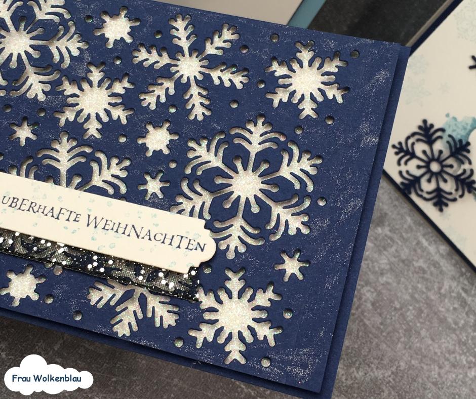 Weihnachstkarten-mit-Schneeflocken-maineblau-wink-of-stella