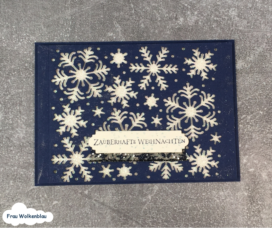 Weihnachstkarten-mit-Schneeflocken-marineblau