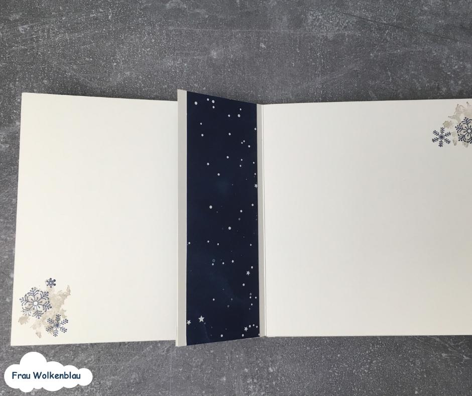 Minialbum Weihnachten verschenken Erinnerungen Innenseite links