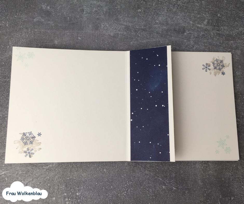 Minialbum Weihnachten verschenken Erinnerungen Innenseite