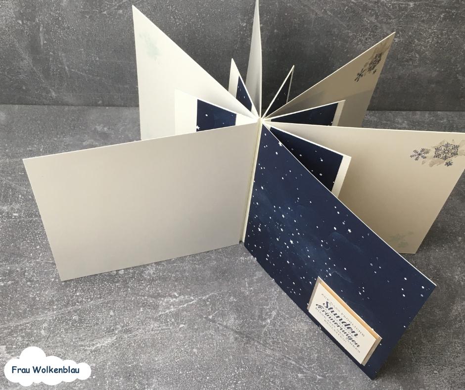 Minialbum Weihnachten verschenken Erinnerungen Marineblau