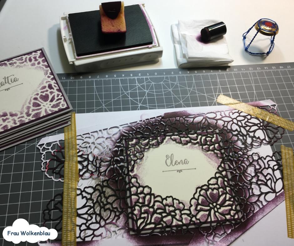 Hochzeitstischkärtchen einfärben